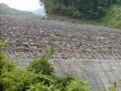 打越地区直下の砂防ダム