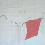 ダムサイトの熱変質帯分布図(-3断面)