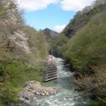 吾妻渓谷ダムサイト予定地(仮排水トンネル)