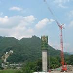橋脚の工事