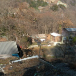 川原湯地区の水没予定地(2009年3月9日)