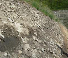 崖錐堆積物層