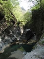 吾妻渓谷・鹿飛橋(しかとびばし)