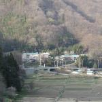 旧長野原第一小学校遠望(2002年4月7日)