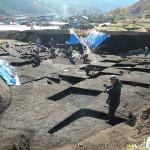 林地区・上原Ⅰ遺跡の発掘現場(2012年11月14日)