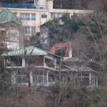 写真1 川原湯温泉の旅館解体(2011年1月撮影)
