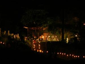 水没予定地で行われていた百八灯。(2005年8月16日撮影)