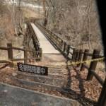 吾妻渓谷・右岸側(長野原町川原湯地区)の滝見橋入り口