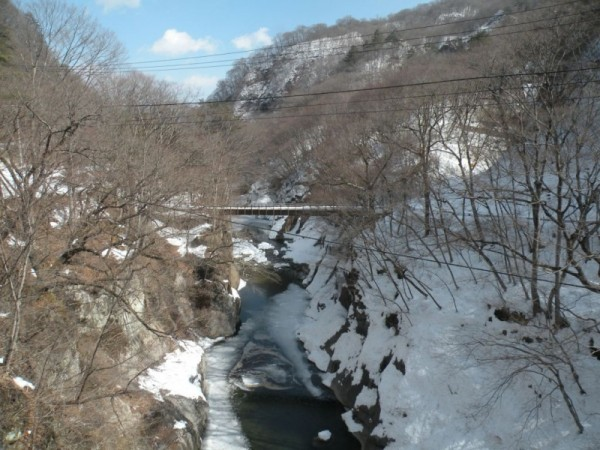 雪の日の滝見橋 2014年2月25日撮影
