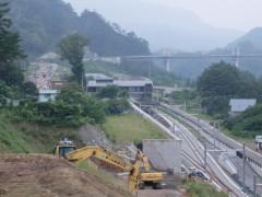 佐藤建設の重機と新駅 (2)shuku