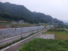 新駅と富澤さんの土地shuku
