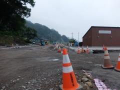 新駅と駅前広場と町道shuku