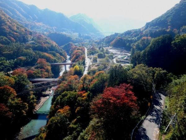 八ッ場大橋から上流を望むshuku