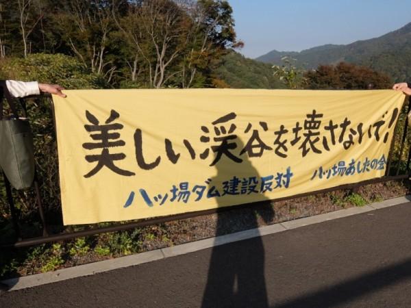 「美しい渓谷を壊さないで」shuku