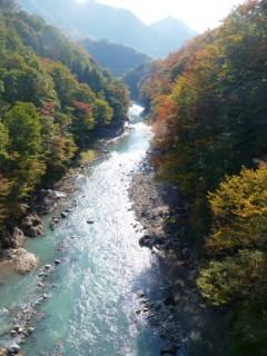 千歳新橋から上流を眺めるshuku