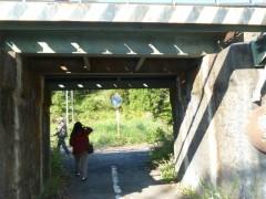 小さな鉄橋下のトンネルshuku