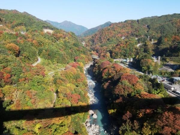 八ッ場大橋から下流を望むshuku
