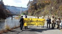 抗議行動(栄橋)