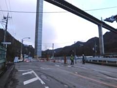 国道閉鎖箇所(上流側)shuku