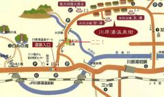 かつての川原湯温泉の地図