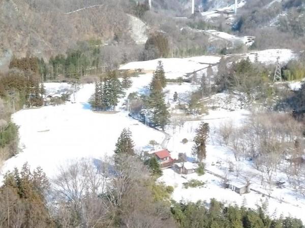 上湯原の雪景色