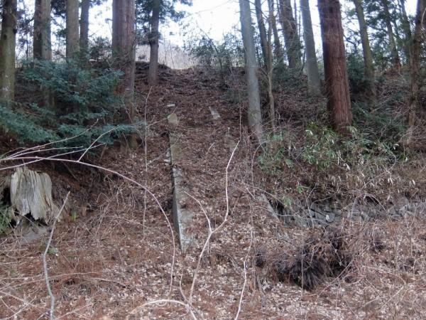 川原畑諏訪神社の石段跡