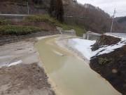 品木ダム上流の貯砂ダム