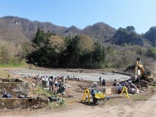 上湯原の発掘調査2
