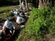 不動沢で縄文の土を調べる