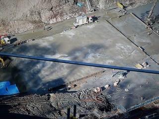 堤体部のコンクリート打設