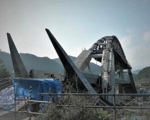 09年10月4日 吾妻線鉄橋工事