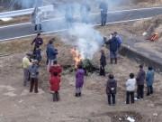 川原畑住民とどんどん焼き