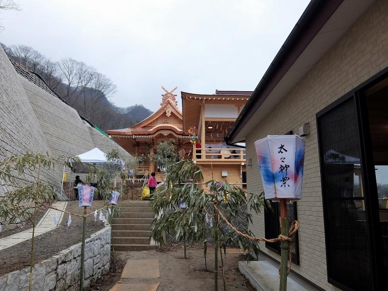 新神社での春祭り