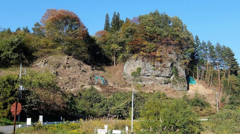 大岩と真田道の跡