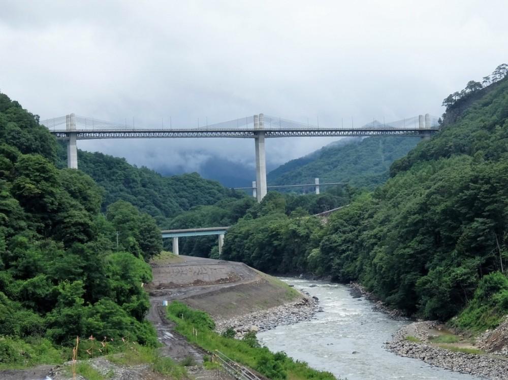 不動大橋と上湯原橋と八ッ場大橋