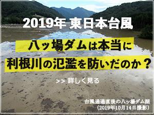 2019年東日本台風 八ッ場ダムは本当に利根川の氾濫を防いだのか?
